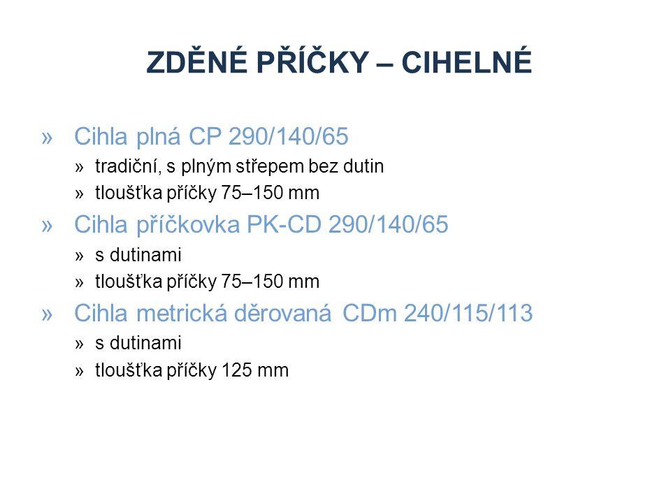 zděné příčky – cihelné Cihla plná CP 290/140/65