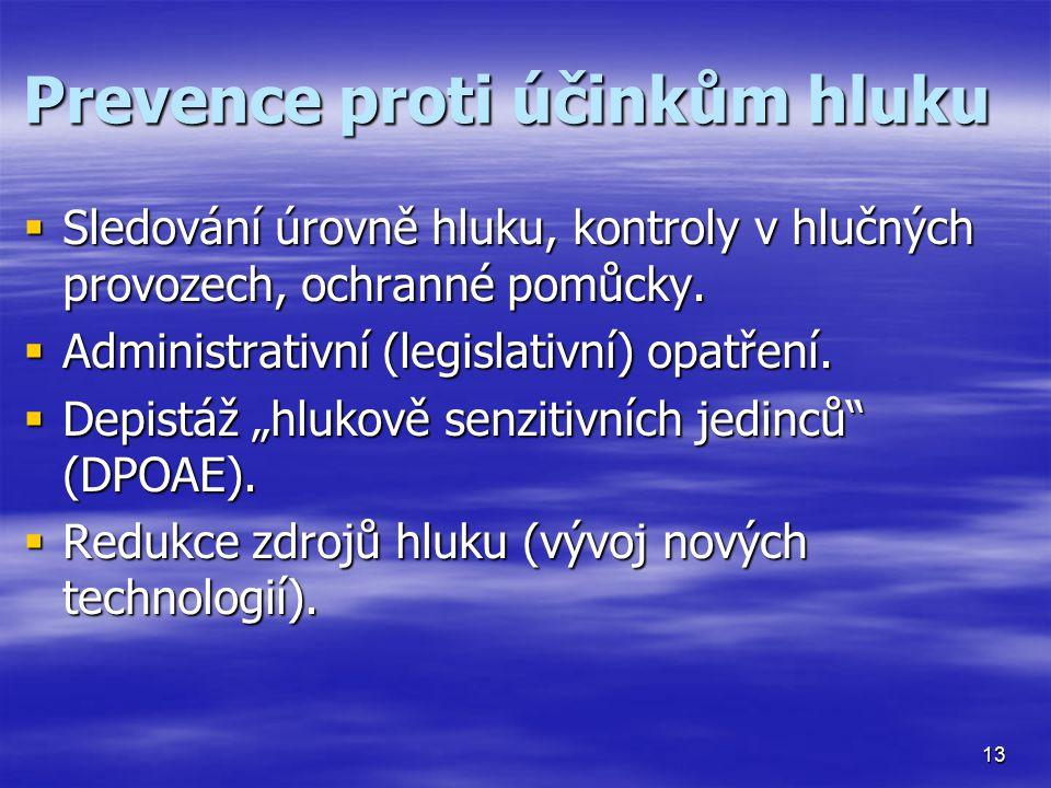 Prevence proti účinkům hluku