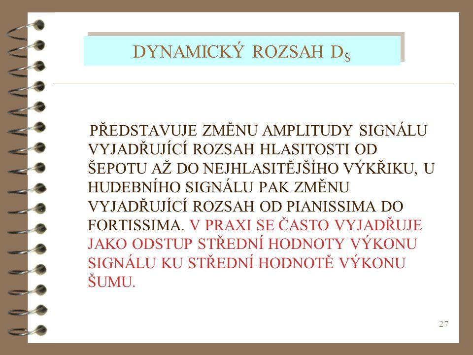 DYNAMICKÝ ROZSAH DS