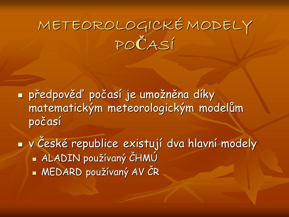 METEOROLOGICKÉ MODELY POČASÍ