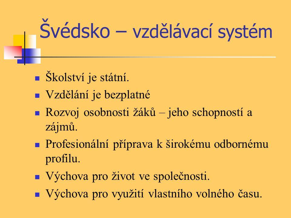 Švédsko – vzdělávací systém