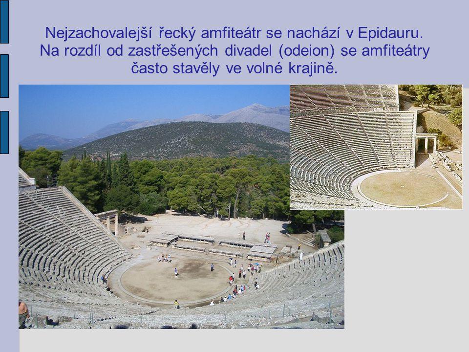 Nejzachovalejší řecký amfiteátr se nachází v Epidauru