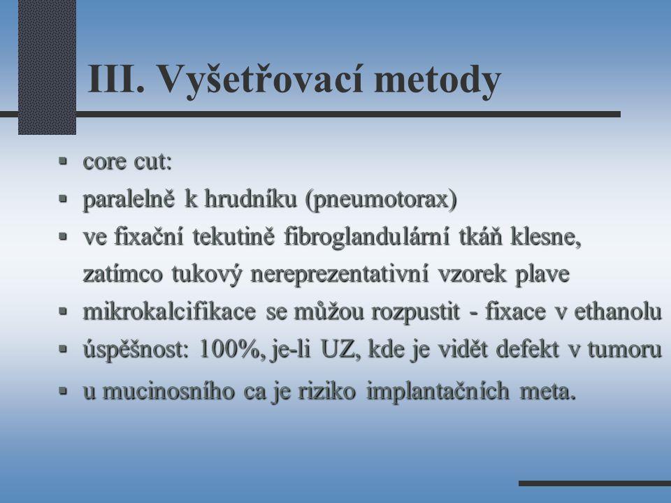 III. Vyšetřovací metody