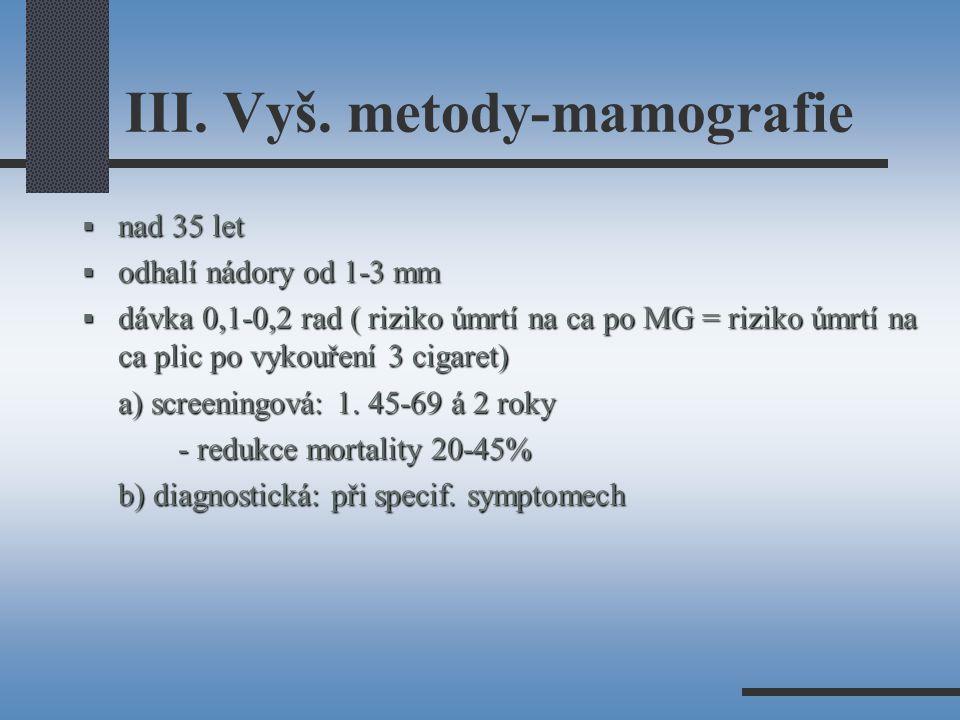 III. Vyš. metody-mamografie