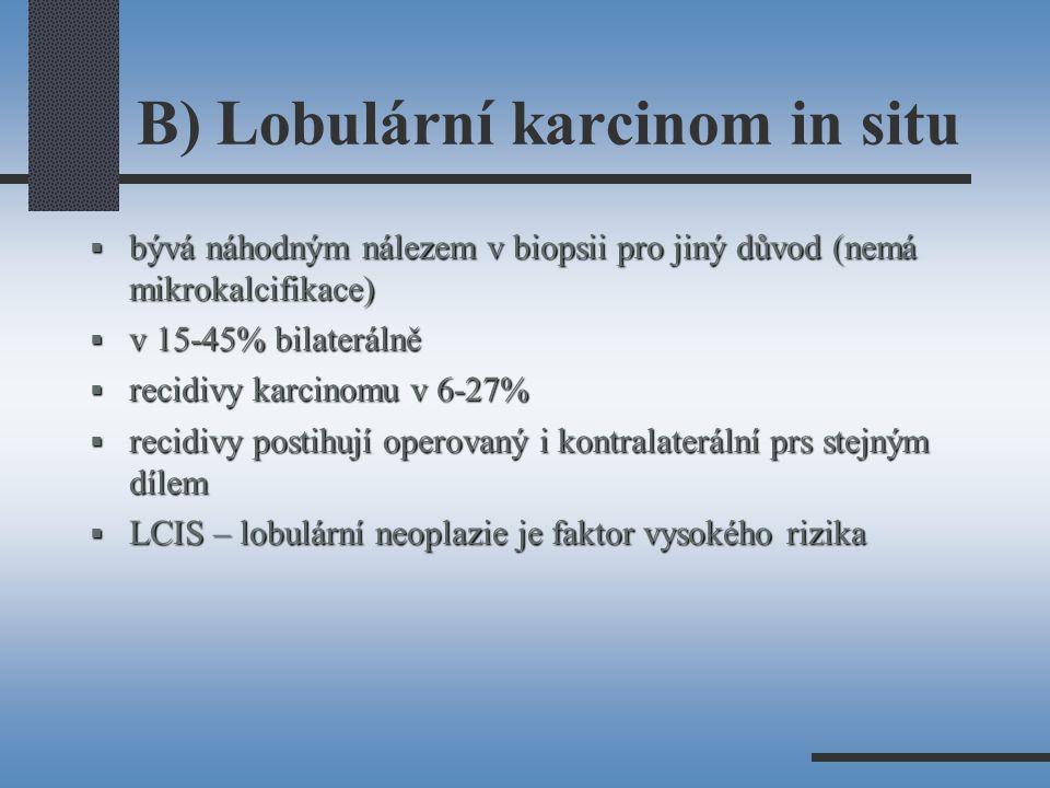 B) Lobulární karcinom in situ
