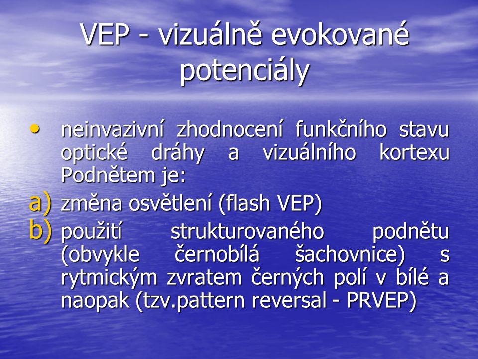VEP - vizuálně evokované potenciály