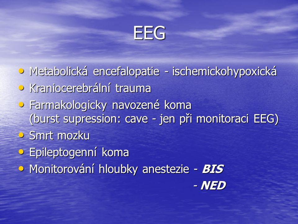 EEG Metabolická encefalopatie - ischemickohypoxická
