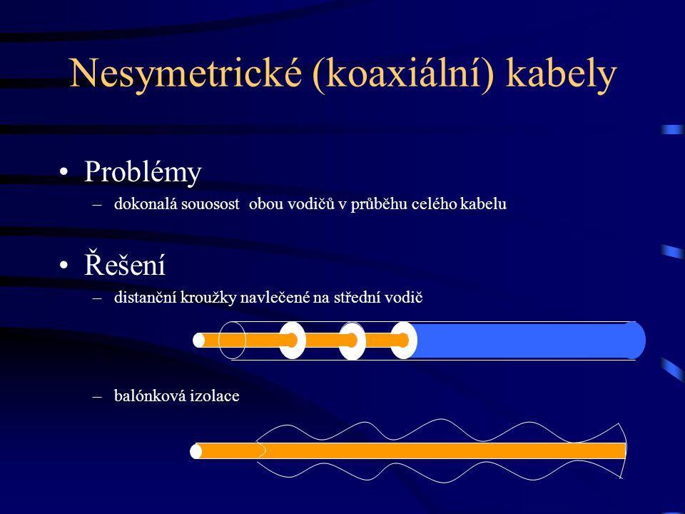 Nesymetrické (koaxiální) kabely