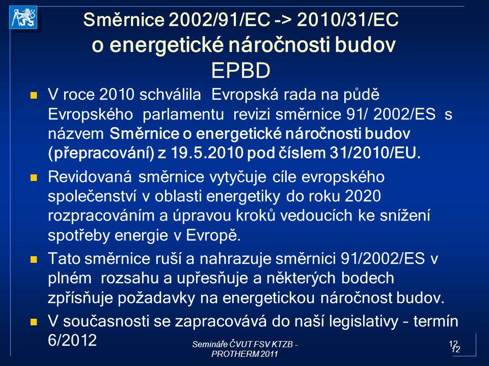 Semináře ČVUT FSV KTZB - PROTHERM 2011