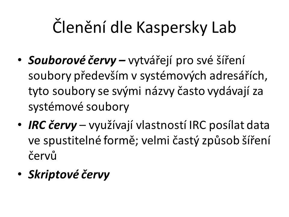 Členění dle Kaspersky Lab