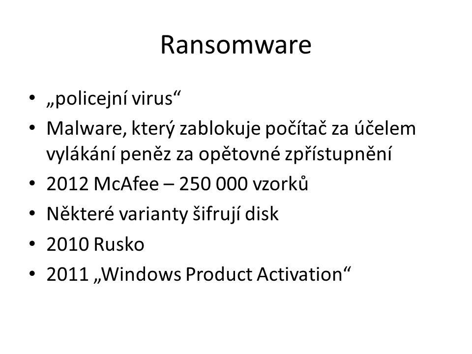 """Ransomware """"policejní virus"""