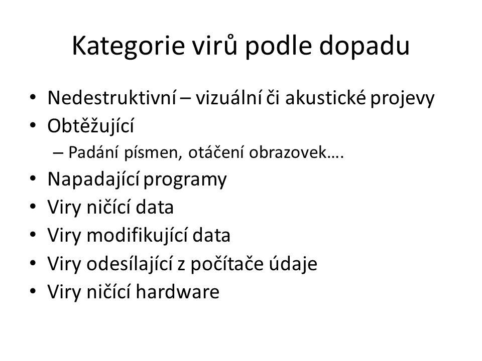 Kategorie virů podle dopadu