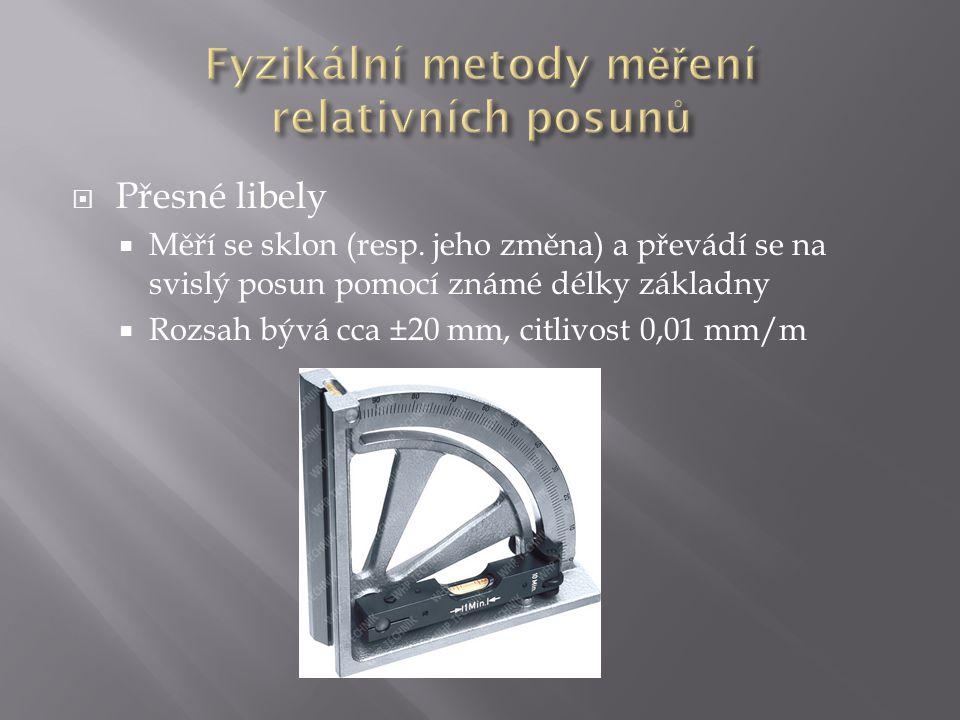 Fyzikální metody měření relativních posunů