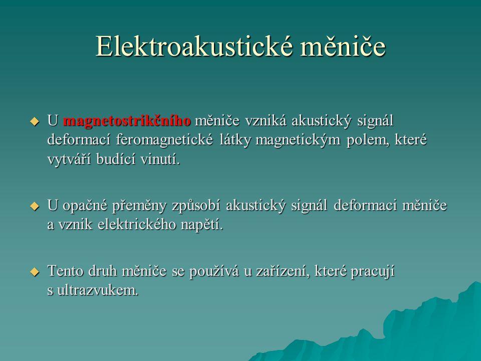 Elektroakustické měniče