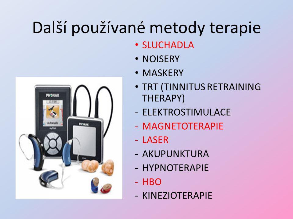 Další používané metody terapie