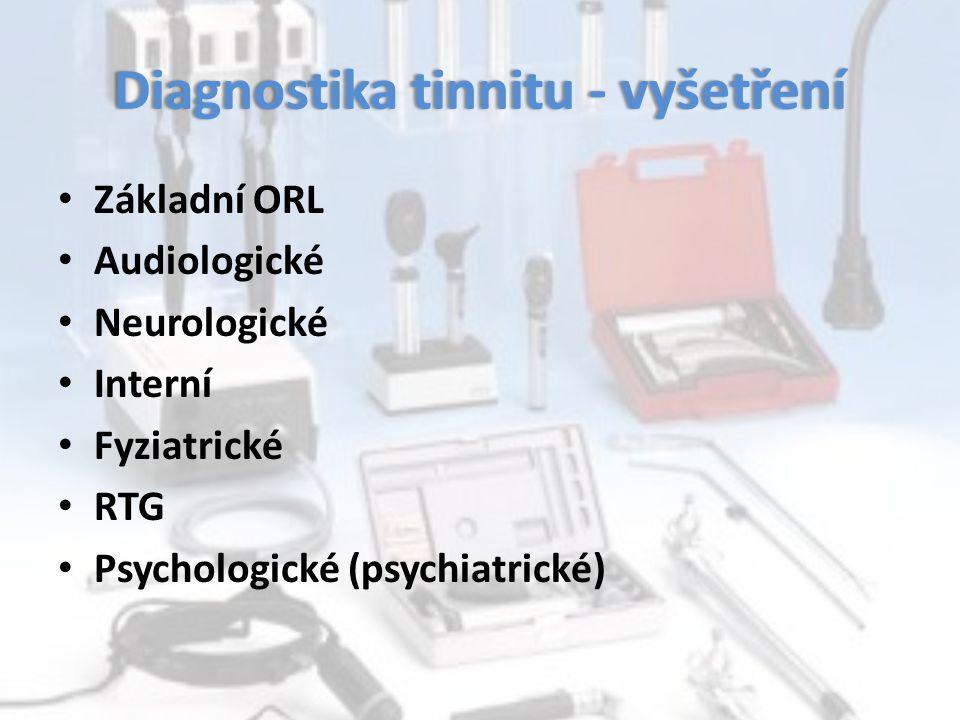 Diagnostika tinnitu - vyšetření