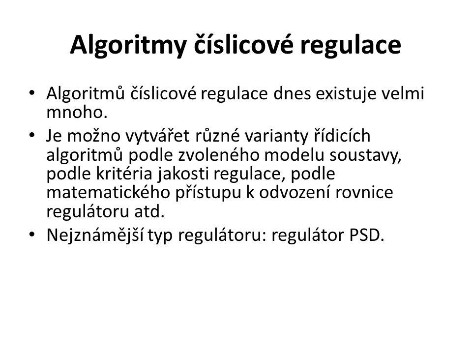 Algoritmy číslicové regulace