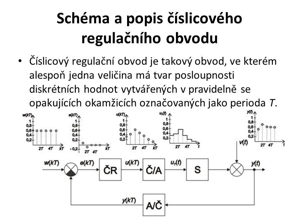 Schéma a popis číslicového regulačního obvodu