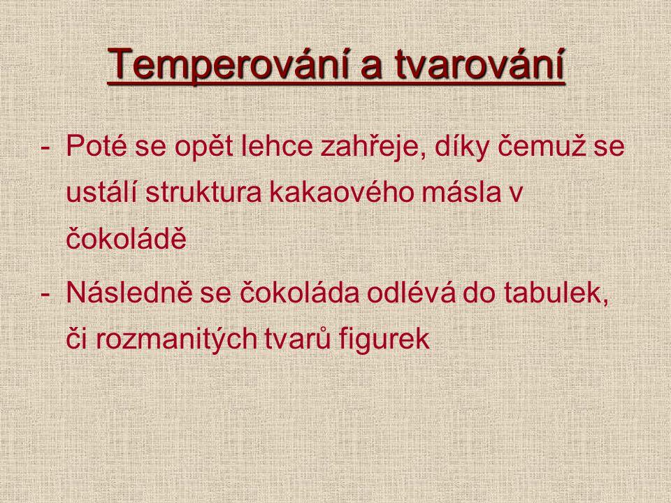 Temperování a tvarování