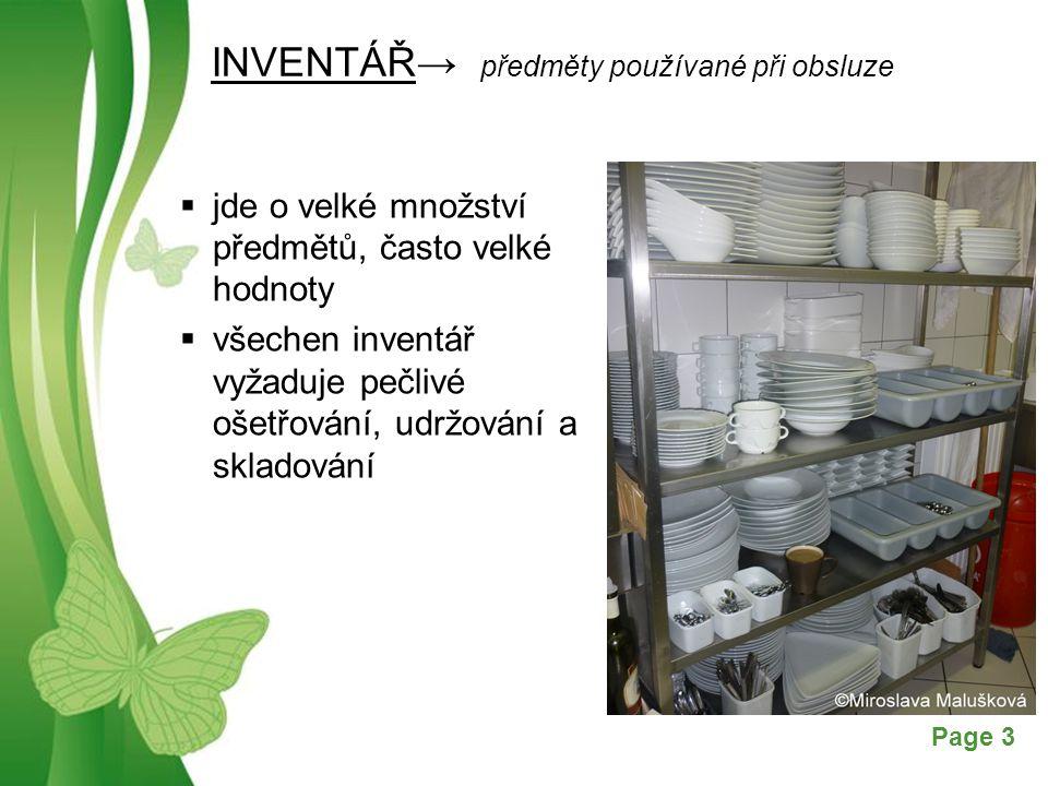 INVENTÁŘ→ předměty používané při obsluze