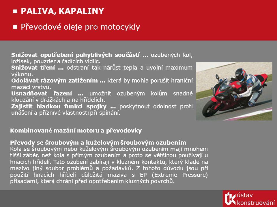 Převodové oleje pro motocykly