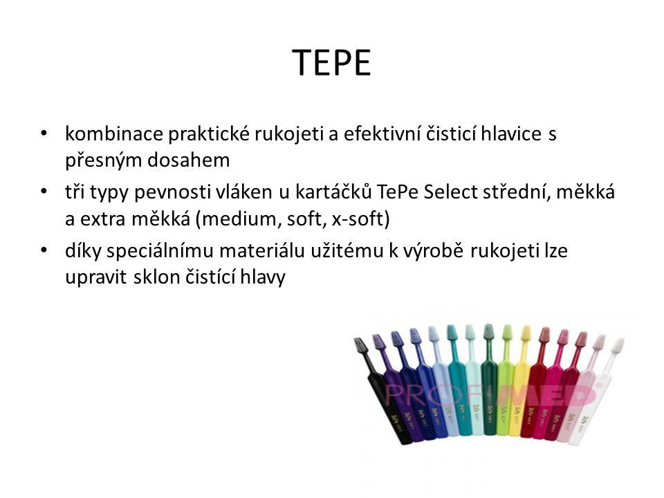 TEPE kombinace praktické rukojeti a efektivní čisticí hlavice s přesným dosahem.