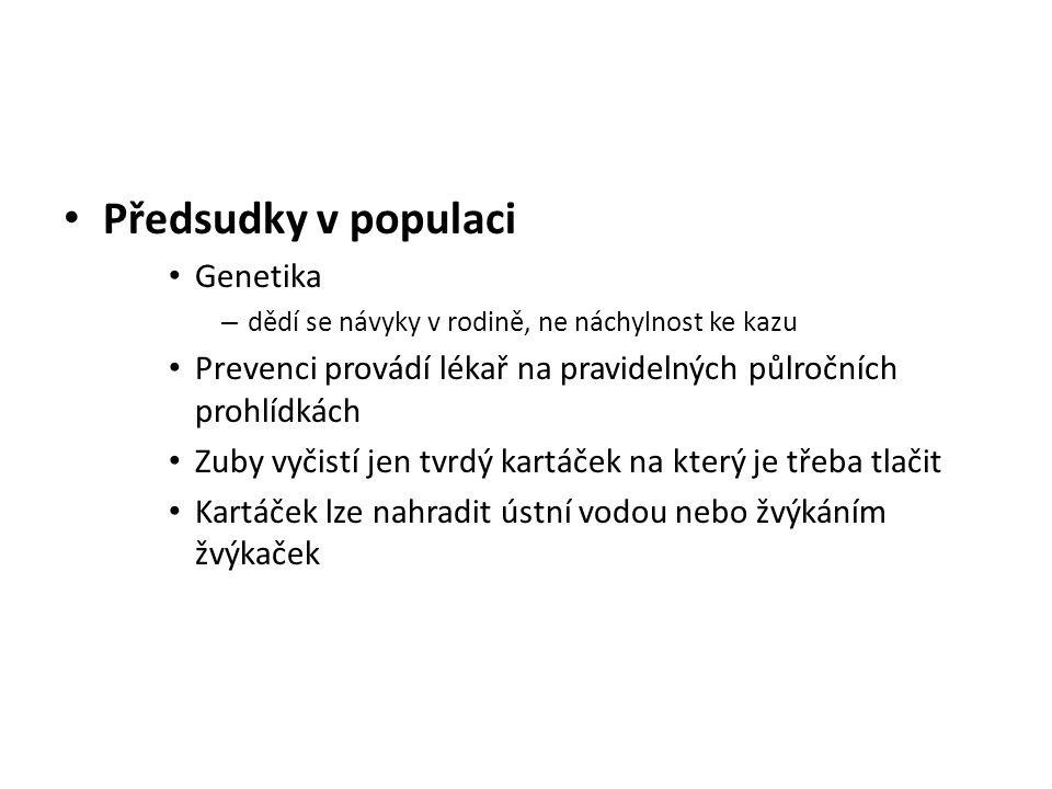 Předsudky v populaci Genetika
