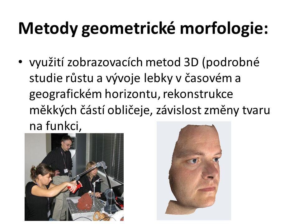 Metody geometrické morfologie: