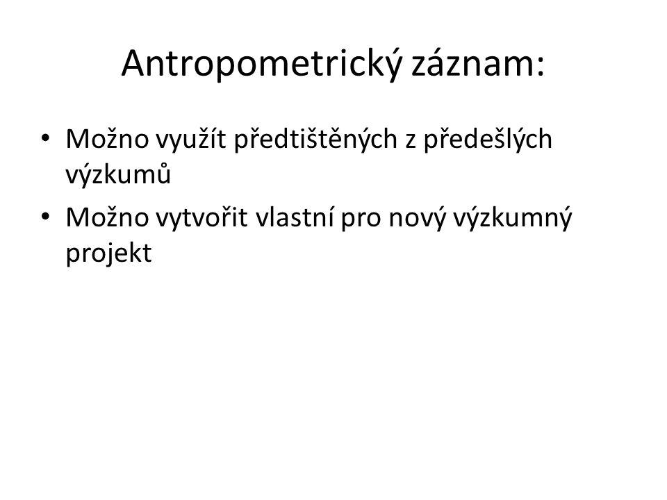 Antropometrický záznam: