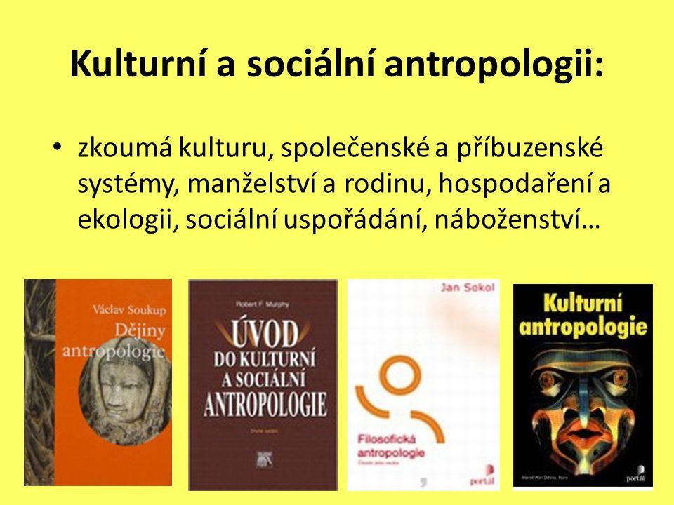 Kulturní a sociální antropologii: