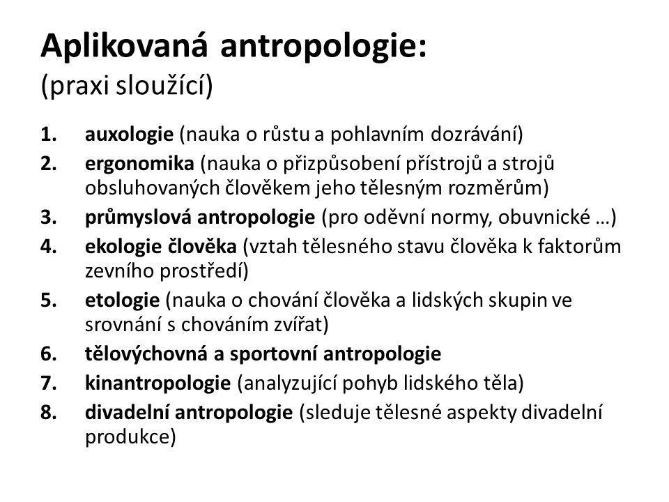 Aplikovaná antropologie: (praxi sloužící)