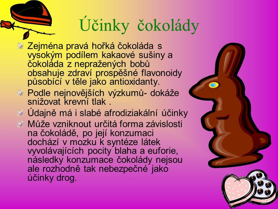 Účinky čokolády