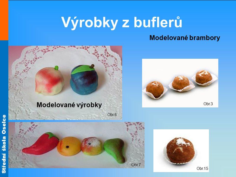 Výrobky z buflerů Modelované brambory Modelované výrobky Obr.3 Obr.6