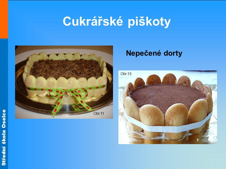 Cukrářské piškoty Obr.11 Nepečené dorty Obr.15