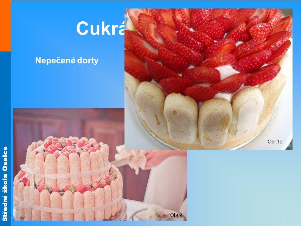 Cukrářské piškoty Obr.10 Nepečené dorty Obr.9
