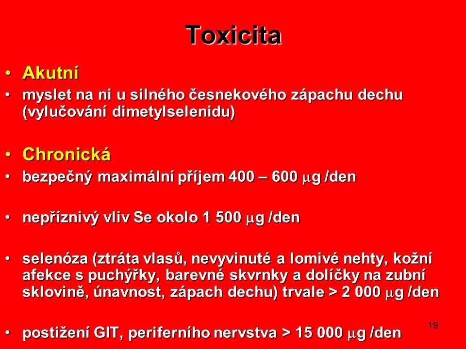 Toxicita Akutní Chronická