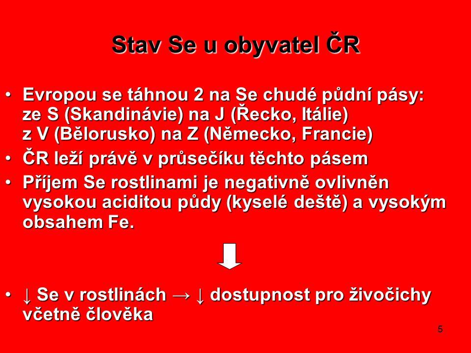 Stav Se u obyvatel ČR