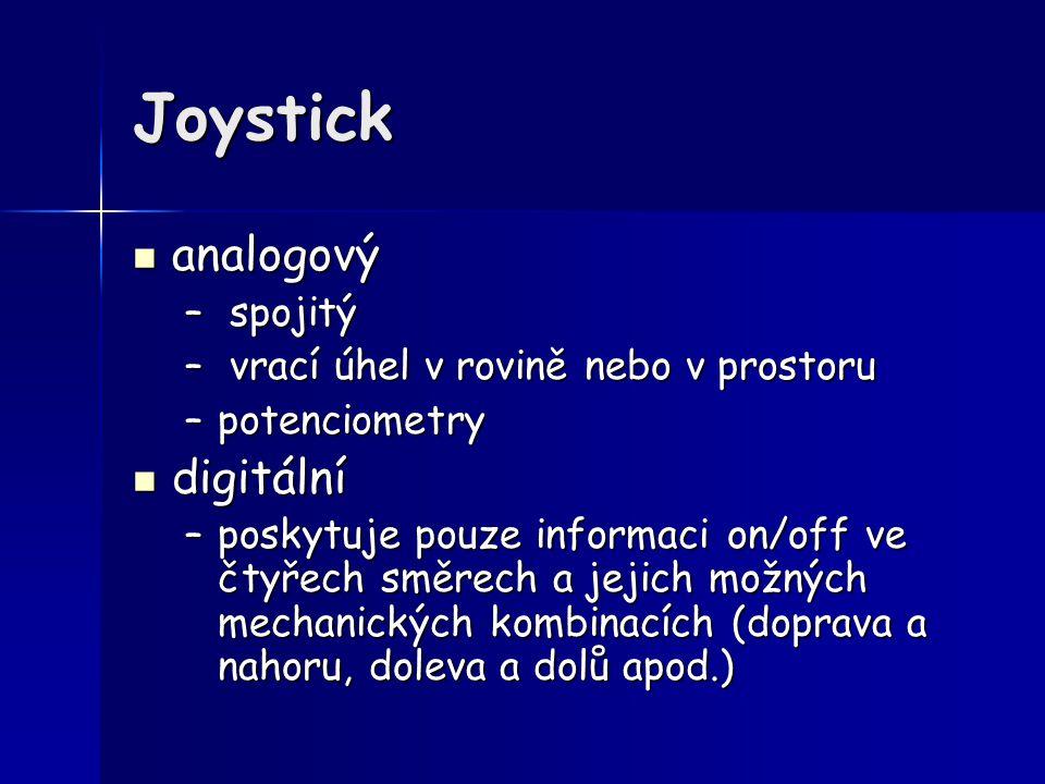 Joystick analogový digitální spojitý