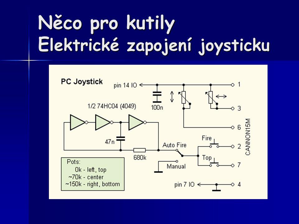 Něco pro kutily Elektrické zapojení joysticku