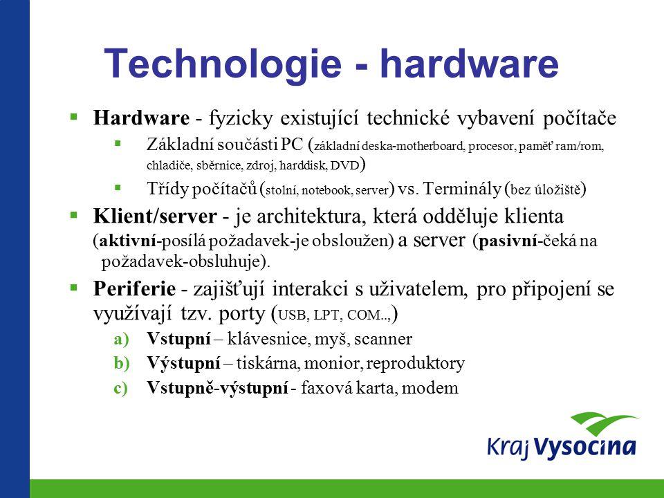 Technologie - hardware