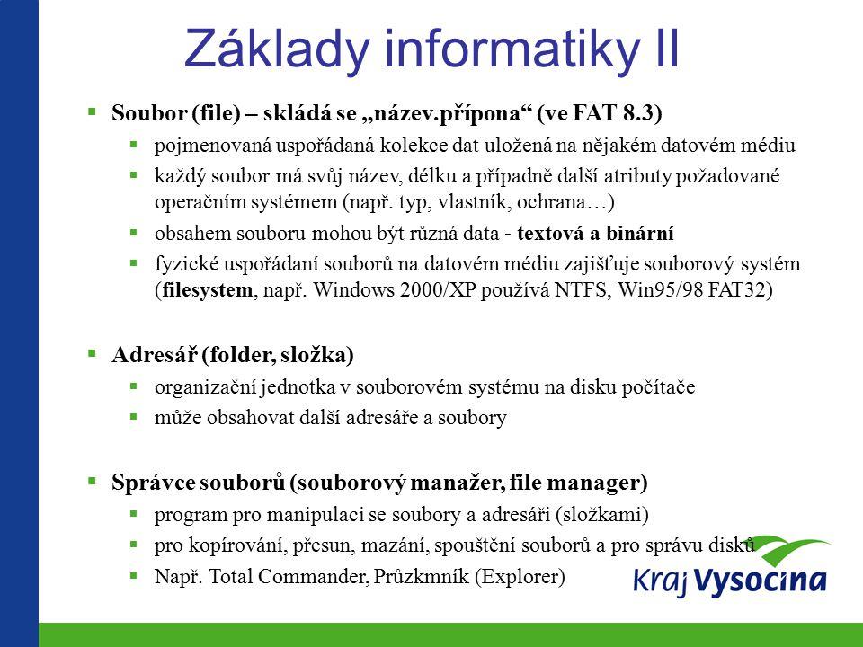 Základy informatiky II