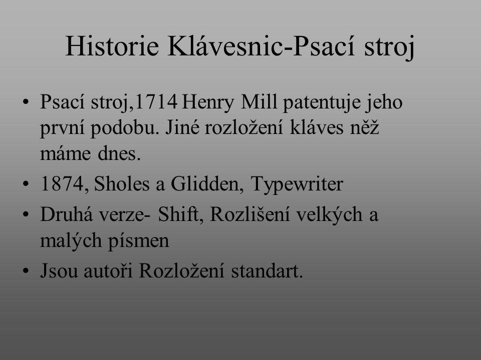 Historie Klávesnic-Psací stroj