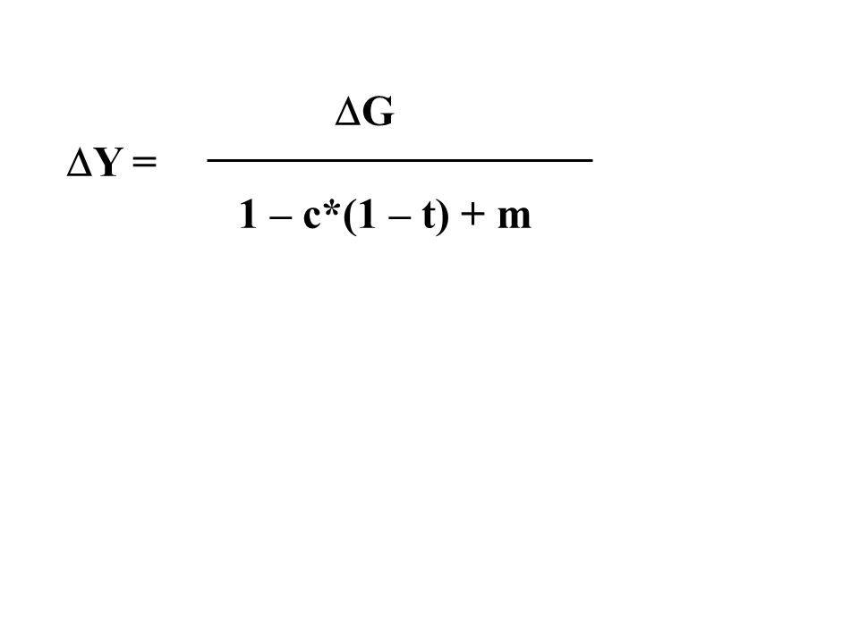 G Y = 1 – c*(1 – t) + m