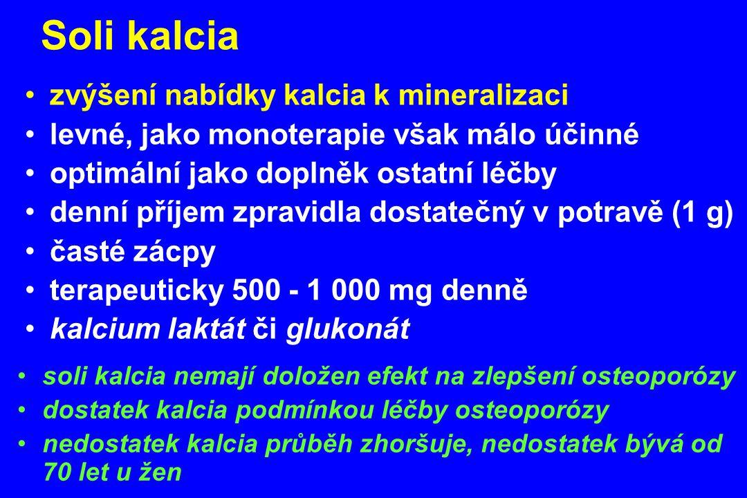 Soli kalcia zvýšení nabídky kalcia k mineralizaci