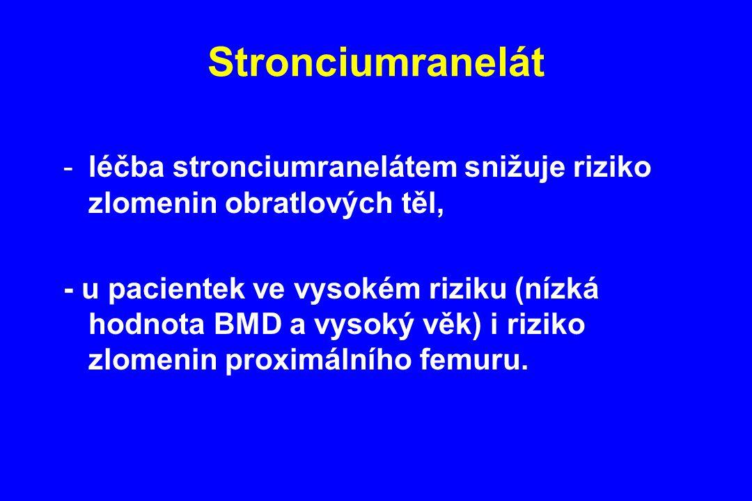 Stronciumranelát léčba stronciumranelátem snižuje riziko zlomenin obratlových těl,