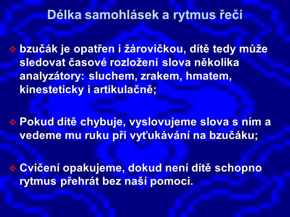 Délka samohlásek a rytmus řeči
