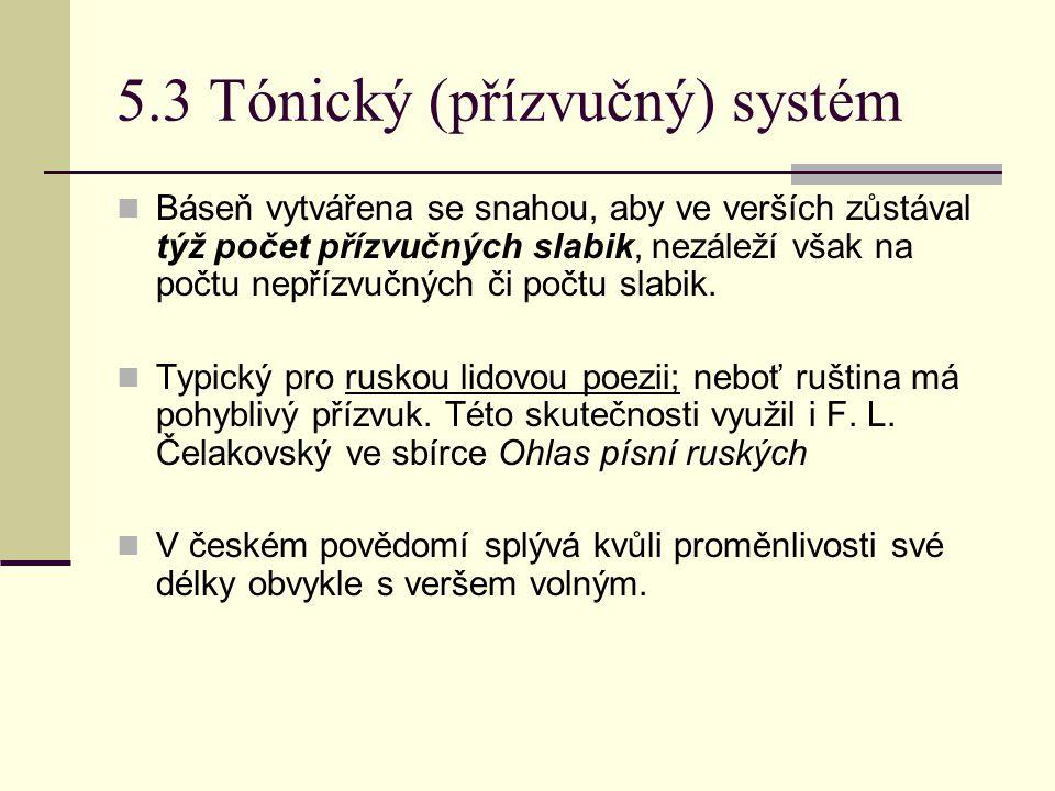 5.3 Tónický (přízvučný) systém
