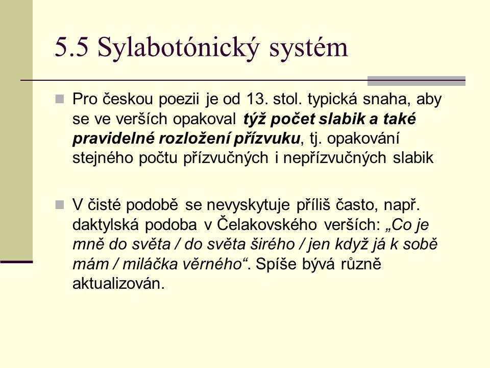 5.5 Sylabotónický systém