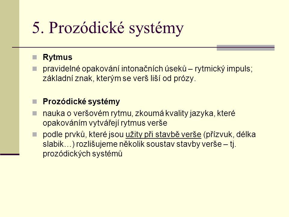 5. Prozódické systémy Rytmus