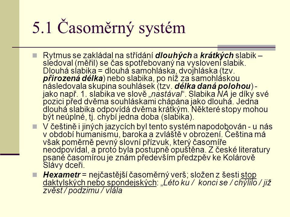 5.1 Časoměrný systém